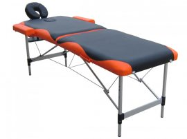 Extra-könnyű, alu 2 zónás, fekete-narancs masszázságy- 70 cm