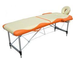 Extra-könnyű, alu 2 zónás, krém-narancs masszázságy- 70 cm
